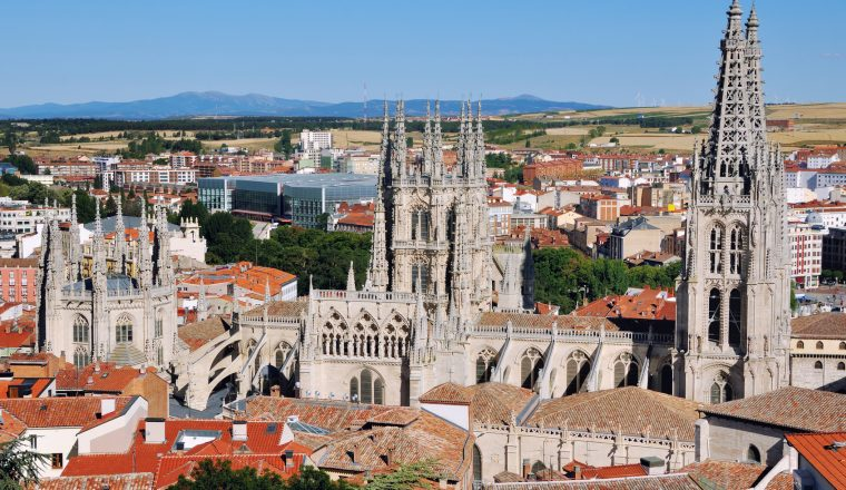 Aerial view of Cathedral of Burgos