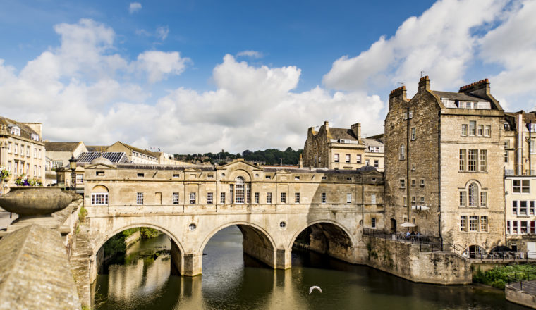 the Pulteney Bridge River Avon