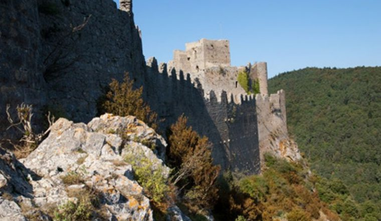 General view of Puilaurens Cathar Castle