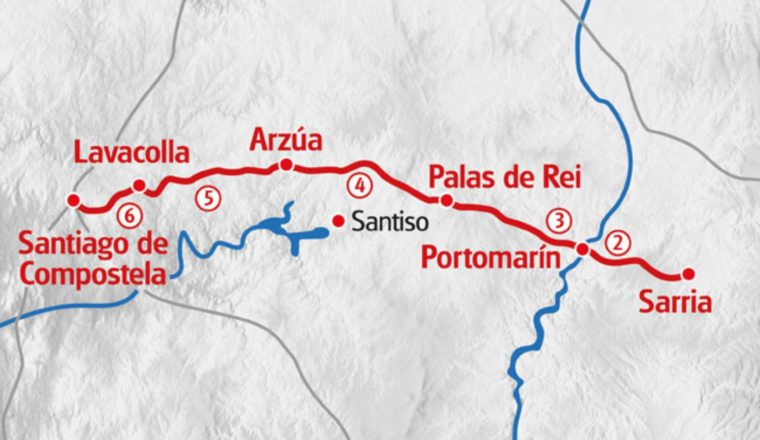 Sarria to sant map