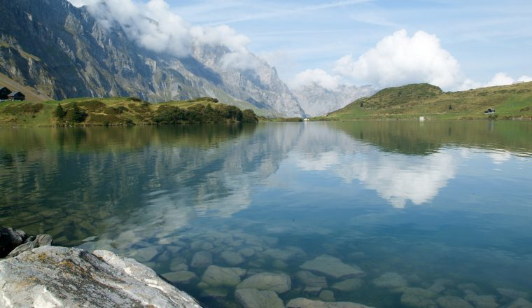 Trubsee lake is a mountain lake at Engelberg