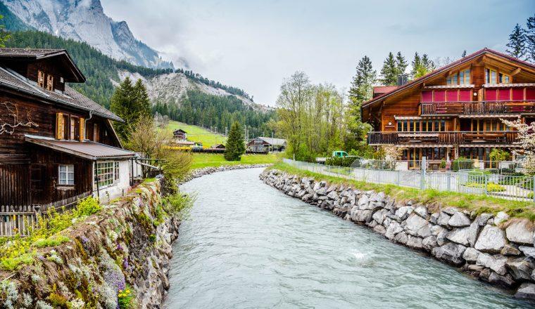Scenic View in Kandersteg Switzerland