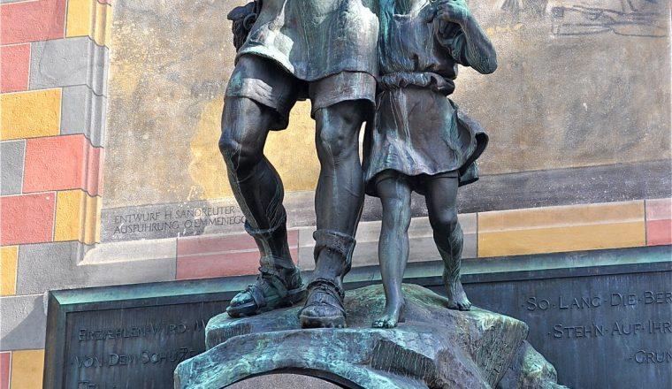 Wilhelm Tell Denkmal in Altdorf, Schweiz