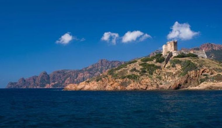 Chateau de Girolata, close to Porto, Corsica