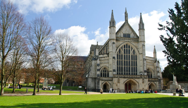 Winchester cathedral in UK