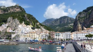 Amalfi coastline in Italy