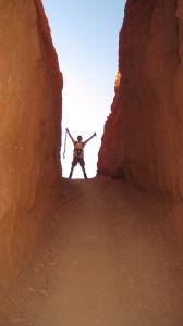Ann Hutchings - Utah, with my husband ,Hiking Brice Canyon