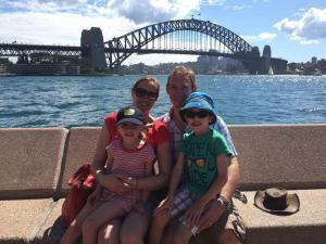 Caroline King - Sydney with the family