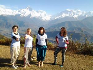 Denise Mills - Yoga and trekking in the Himalaya mountains