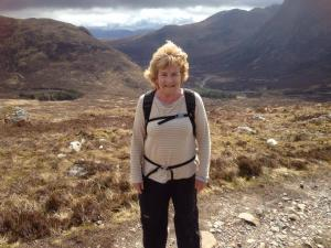 Frances Muir - West Highland Way - top of Devil's Staircase